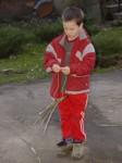 pletení pomlázky - Filípek