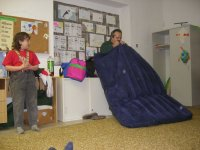Jindrova postel - nádech - výdech - nádech ...