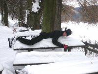sněhová postel