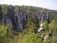 pohled na Prachovské skály